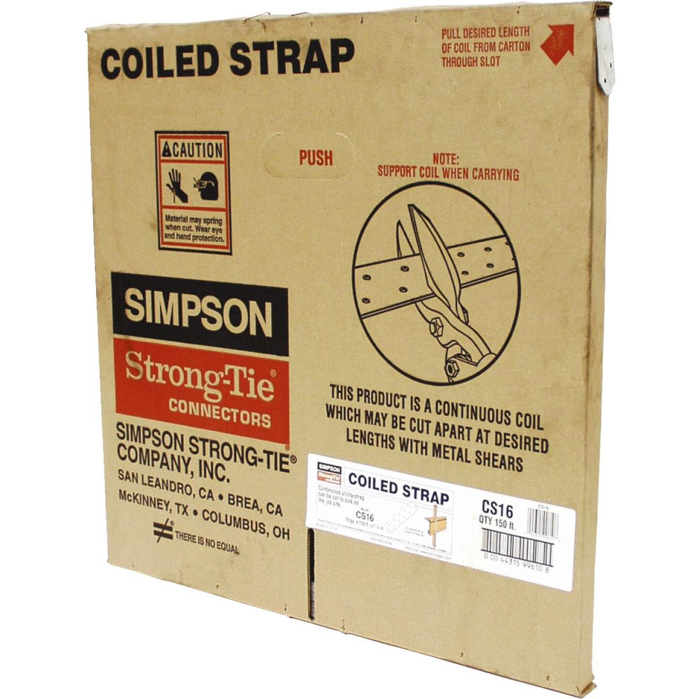Simpson Strong-Tie 1-14 in. x 150 ft. Galvanized Steel 16 Gauge Coiled Strapping Image 1
