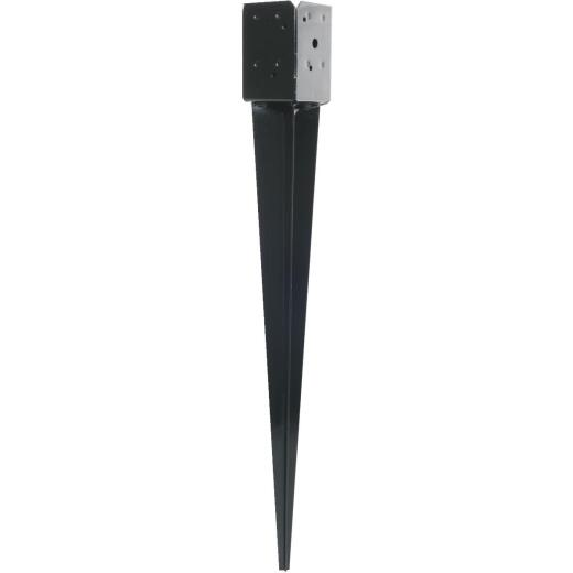 Simpson Strong-Tie Steel Black Powder-Coated Fence Post Spike