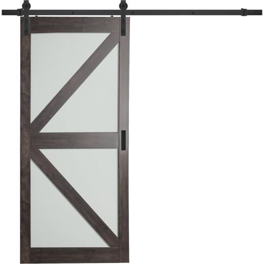 Erias Home Designs Dunmore 36 In. x 84 In. x 1-3/8 In. K-Style Barn Door Kit
