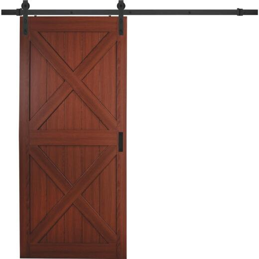Erias Home Designs Sagrada 36 In. x 84 In. x 1-3/8 In. Double X-Style Barn Door Kit