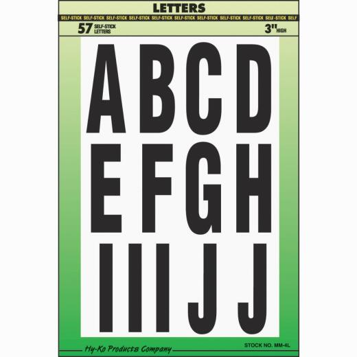 Hy-Ko 3 In. Self-Adhesive Assortment Letters