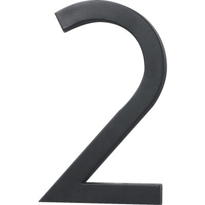 Hy-Ko Architectural Series 6 In. Satin Black House Number Two