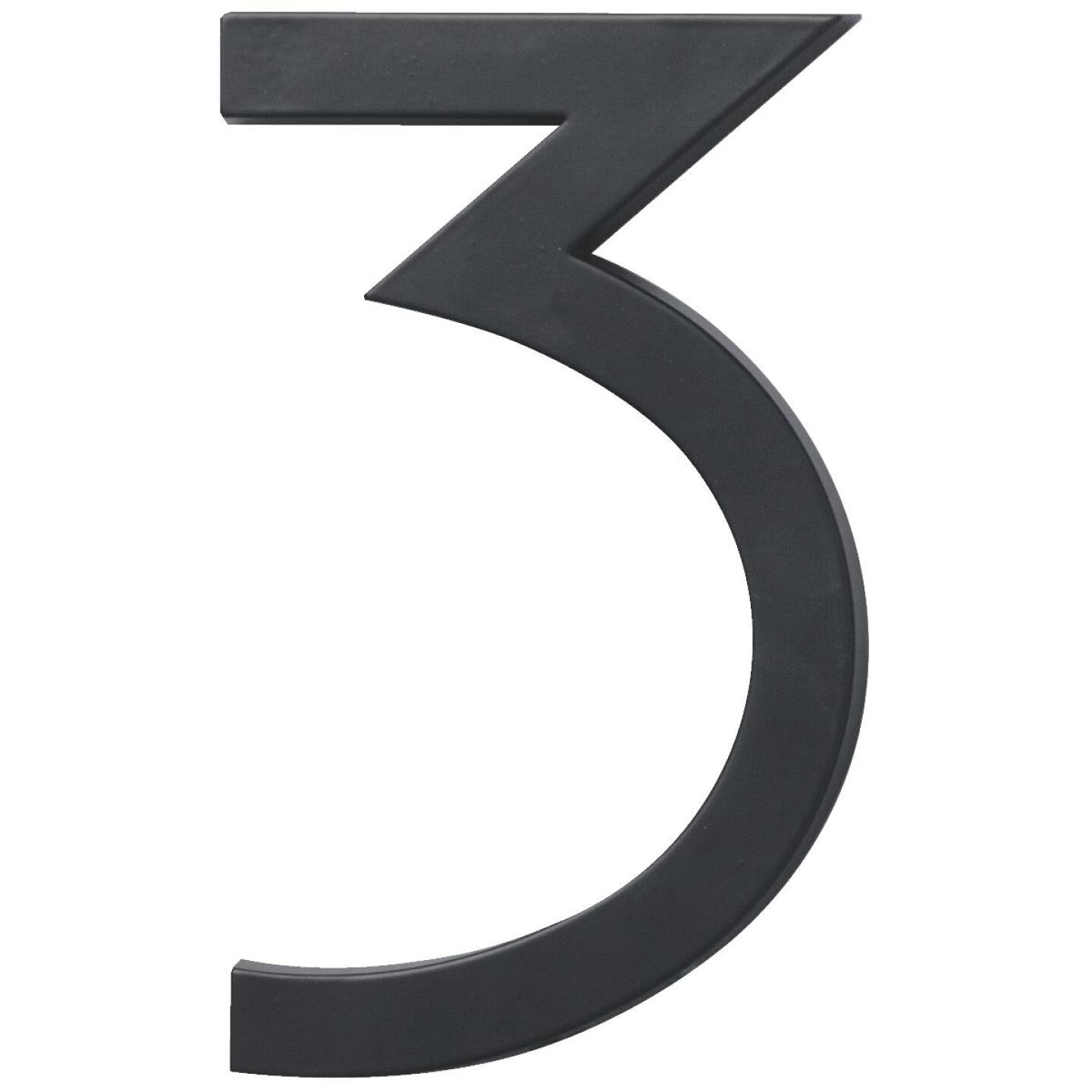 Hy-Ko Architectural Series 6 In. Satin Black House Number Three Image 1