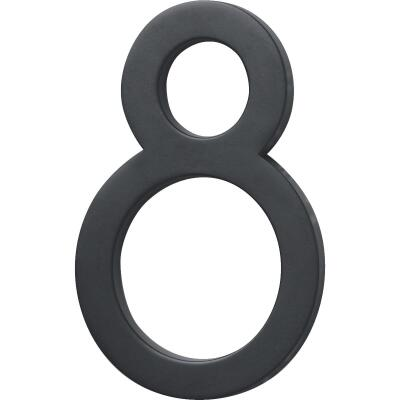 Hy-Ko Architectural Series 6 In. Satin Black House Number Eight