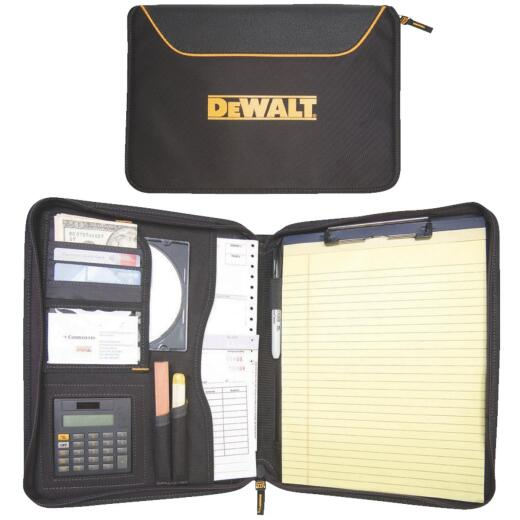 DeWalt Pro Contractor's 10 In. W. x 13 In. H. x 1-3/4 In. D. Black Polyester Business Portfolio