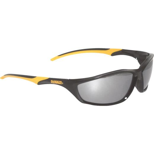 DeWalt Router Black/Yellow Frame Safety Glasses with Silver Mirrored Lenses