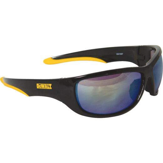 DeWalt Dominator Black/Yellow Frame Safety Glasses with Yellow Mirrored Lenses