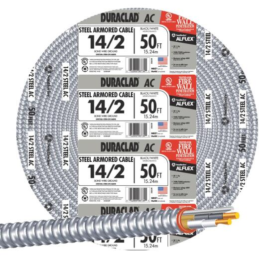 Southwire 50 Ft. 14/2 AC Armored Cable