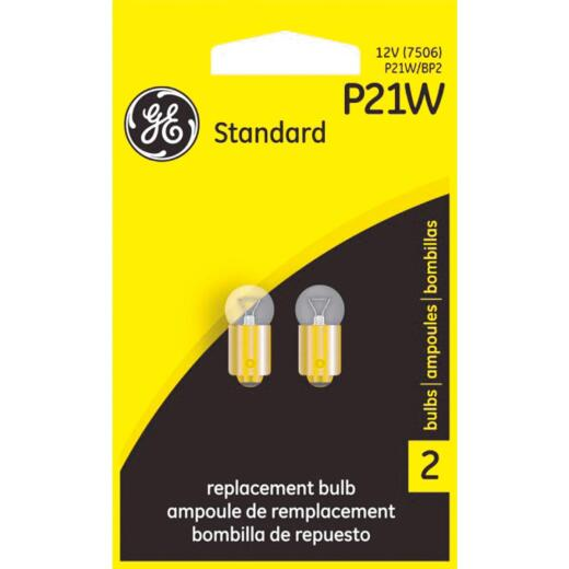 GE 12V P21W Miniature Incandescent Automotive Bulb (2-Pack)