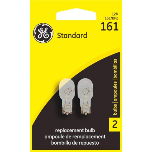 GE 12V 161 Miniature Incandescent Automotive Bulb (2-Pack)