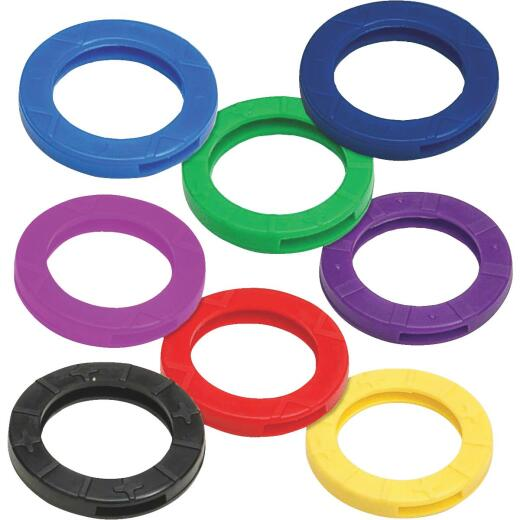 Lucky Line Vinyl Large Size Key Identifier Ring, Assorted Colors (150-Pack)