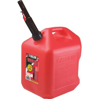 Midwest Can 5 Gal. Plastic Gasoline Fuel Can