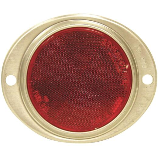 Peterson 3 In. Dia. Red Oval Reflector