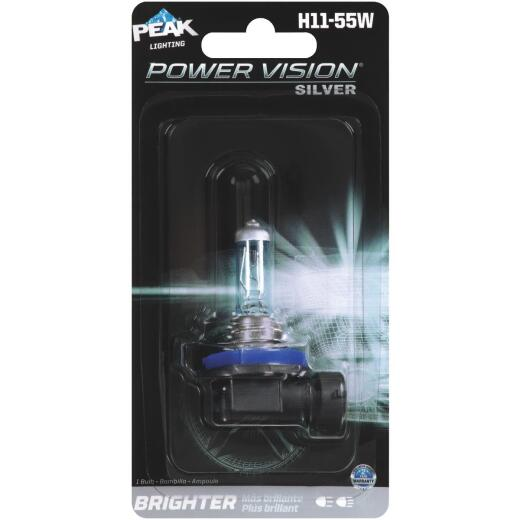 PEAK Power Vision Silver H11-55W 12.8V Halogen Automotive Bulb