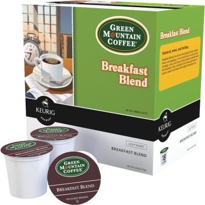 Keurig Green Mountain Breakfast Blend Coffee  K-Cup (18-Pack)