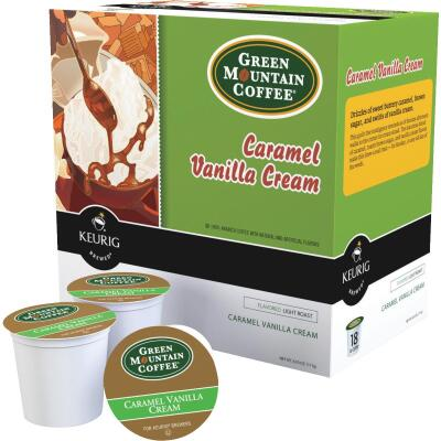 Keurig Green Mountain Caramel Vanilla Cream Coffee  K-Cup (18-Pack)