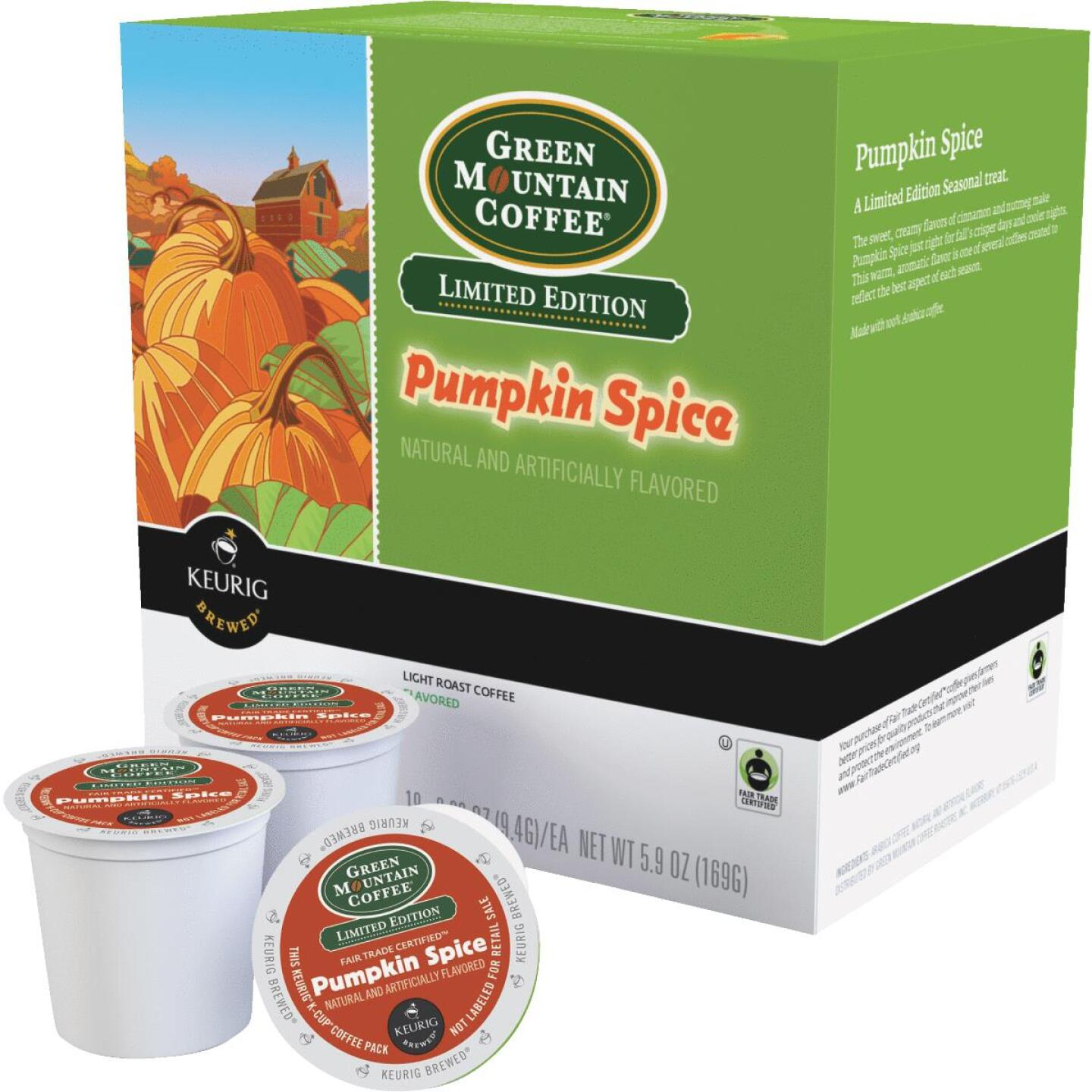 Keurig Green Mountain Pumpkin Spice Coffee  K-Cup (18-Pack) Image 1
