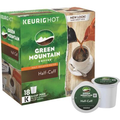Keurig Green Mountain Coffee Half-Caff K Cup Pack (18-Count)