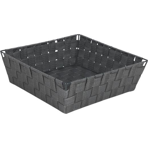 Home Impressions 11.75 In. x 3.75 In. H. Woven Storage Basket, Gray