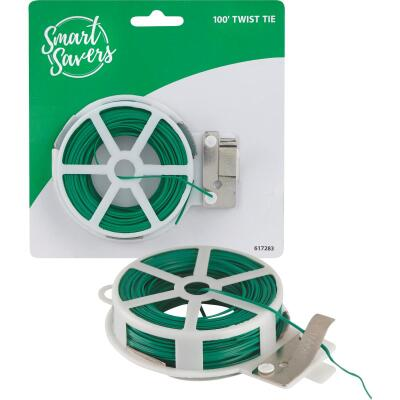 Smart Savers 100 Ft. Green Rubber Twist Tie