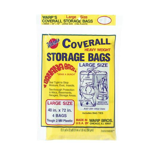 Warp's Coverall 40 In. x 72 In. Heavyweight Storage Bag (4 Count)