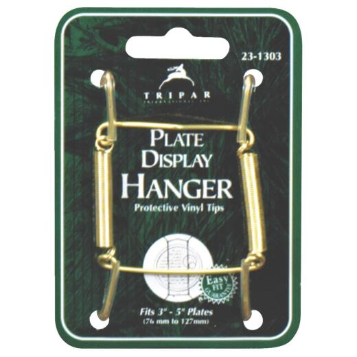 Tripar 3 In. to 5 In. Brass Wire Plate Hanger