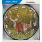 "Acurite 12-1/2"" Dia Plastic Dial Deer Indoor & Outdoor Thermometer Image 2"