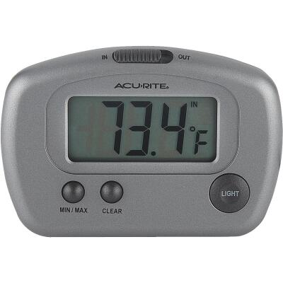 "Acurite 2-3/4"" W x 3-1/8"" H Plastic Digital Indoor & Outdoor Thermometer"