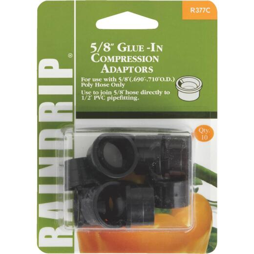 Raindrip 5/8 In. PVC x 5/8 In. Compression Glue-In Hose-To-Drip Adapter (10-Pack)