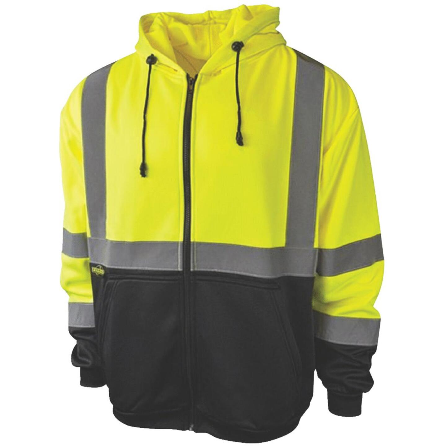 Radians Rad Wear ANSI Class 3 Hi Vis Green Safety Sweatshirt Large Image 1