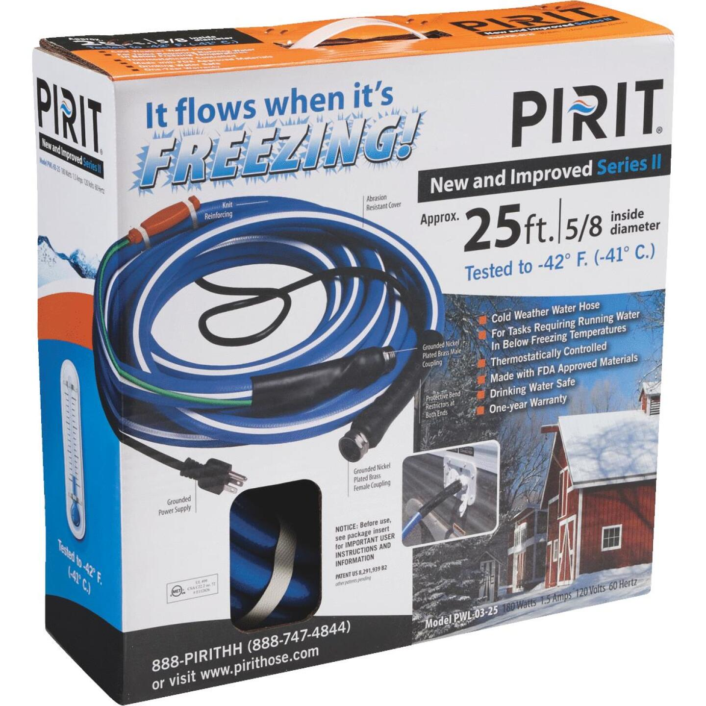 Pirit 5/8 In. Dia. x 25 Ft. L. Heated Water Hose Image 5