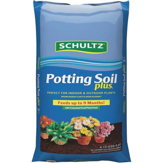 Schultz Premium 2 Cu. Ft. All Purpose Indoor & Outdoor Potting Soil Plus