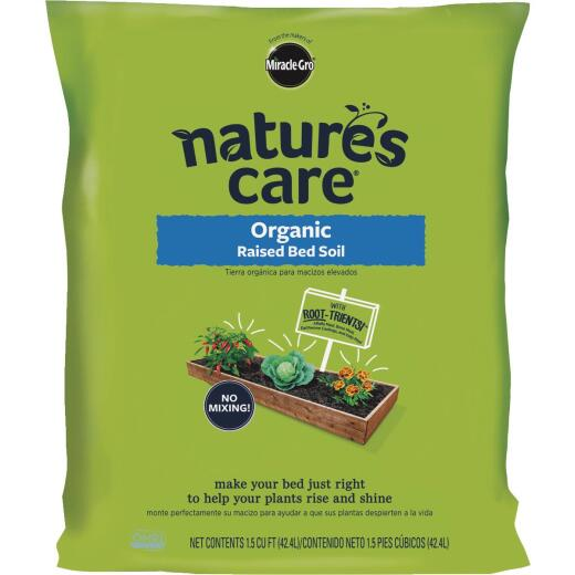 Miracle-Gro Nature's Care 1.5 Cu. Ft. Raised Bed Organic Garden Soil