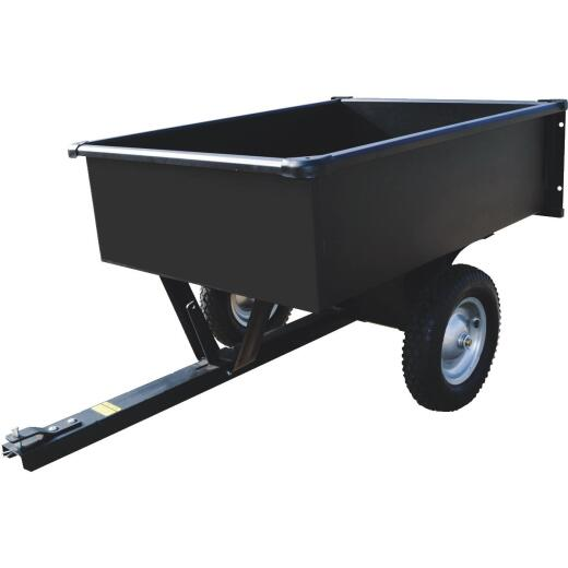 Precision 10 Cu. Ft. 750 Lb. Steel Tow-Behind Garden Cart