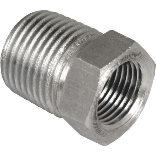 Apache 1/2 In. Male Pipe x 3/8 In. Female Pipe Reducer Bushing Hydraulic Hose Adapter