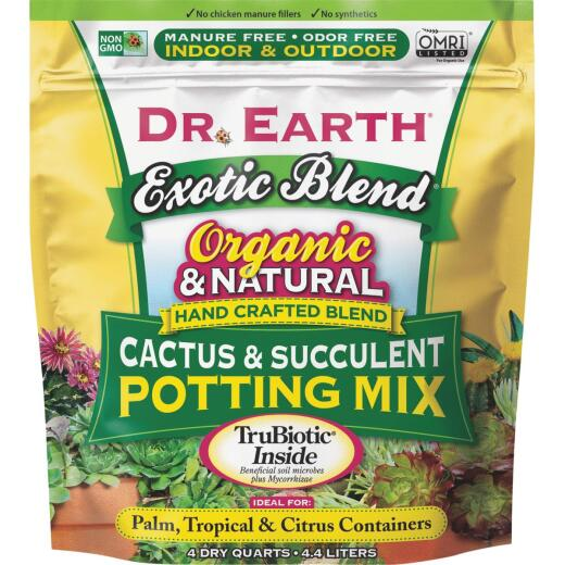 Dr. Earth Exotic Blend 4 Qt. Cactus & Succulent Potting Mix