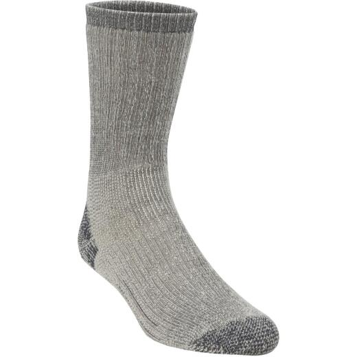 Hiwassee Trading Company Large Charcoal Heavy Weight Hiking Crew Sock