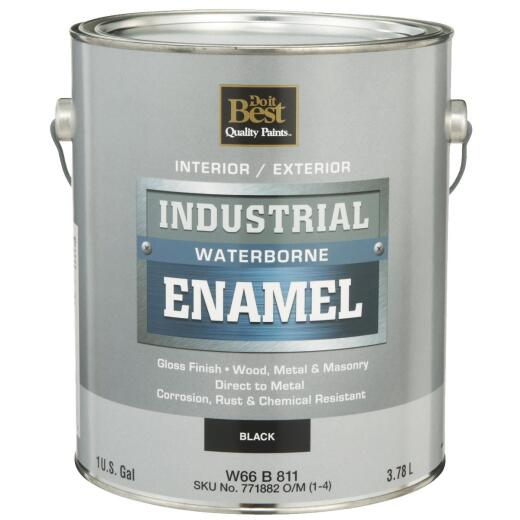Do it Best Waterborne Industrial Enamel, Black, 1 Gal.