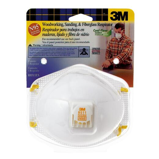 3M N95 Woodworking, Sanding and Fiberglass Valved Respirator