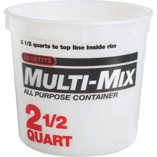 Leaktite 2-1/2 Qt. Multi-Mix All Purpose Mixing And Storage Container