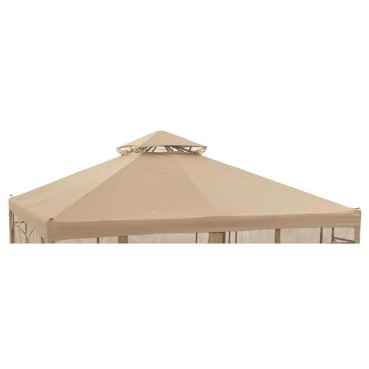 Outdoor Expressions 10 Ft. x 10 Ft. Tan Polyester Replacement Gazebo Canopy