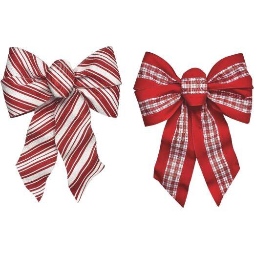Holiday Trims 5-Loop 12 In. W. x 18 In. L. Christmas Bow