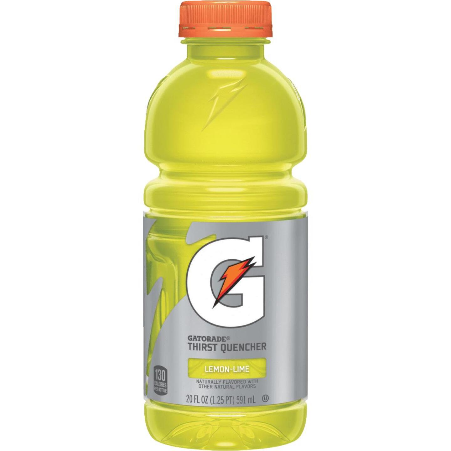 Gatorade 20 Oz. Lemon-Lime Wide Mouth Thirst Quencher Drink (24-Pack) Image 1